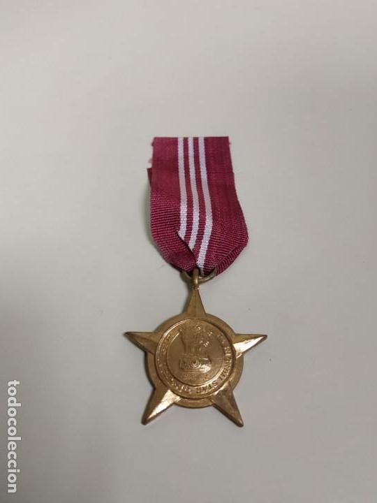 J- MEDALLA INDIA AÑO 1971 PASHCHIMI STAR DIAMETRO APROXIMADO 3.5 CMS RARA!! (Militar - Medallas Internacionales Originales)