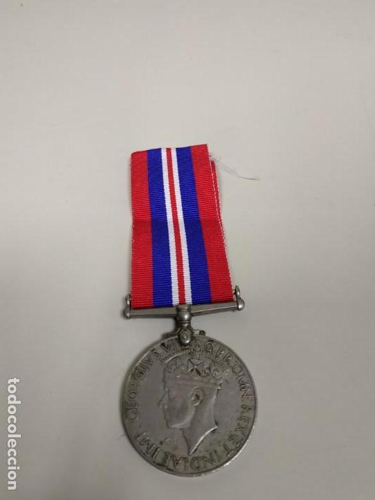 Militaria: J- MEDALLA REINO UNIDO GEORGIVS VI D G BRO MN REX ET INDIA IMP 1939/1945 RARA - Foto 2 - 146900990
