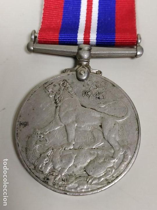 Militaria: J- MEDALLA REINO UNIDO GEORGIVS VI D G BRO MN REX ET INDIA IMP 1939/1945 RARA - Foto 4 - 146900990