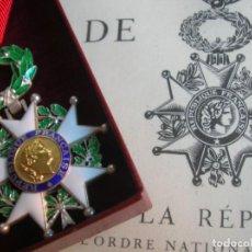 Militaria: MUY BELLA ORDEN FRANCESA DE LA LEGION DE HONOR CON SU DIPLOMA DE CONCESIÓN.. Lote 146977654