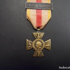 Militaria: MEDALLA COMBATANT VOLONTAIRE 1914-18 CON PASADOR. BRONCE. REPUBLICA FRANCESA. RARISIMA. Lote 147371374