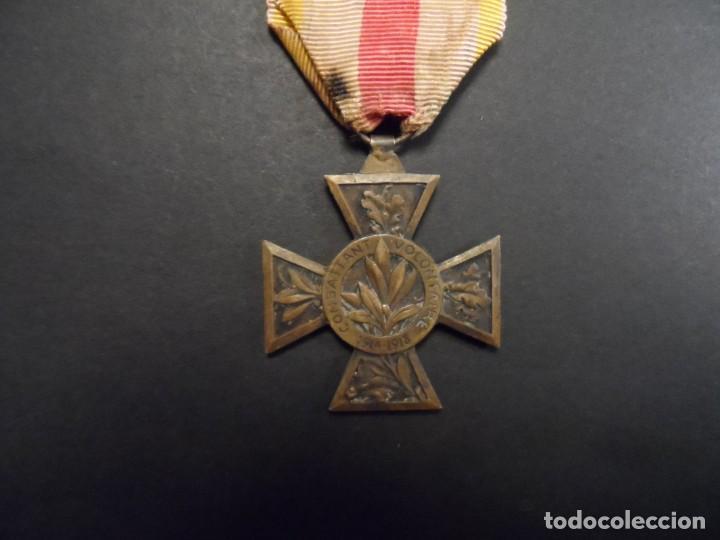 Militaria: MEDALLA COMBATANT VOLONTAIRE 1914-18 CON PASADOR. BRONCE. REPUBLICA FRANCESA. RARISIMA - Foto 3 - 147371374
