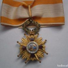 Militaria: ORDEN ISABEL LA CATOLICA-CRUZ DE COMENDADOR MODELO MONARQUICO-ISABEL 2-CON SU CINTA ORIGINAL. Lote 147468698