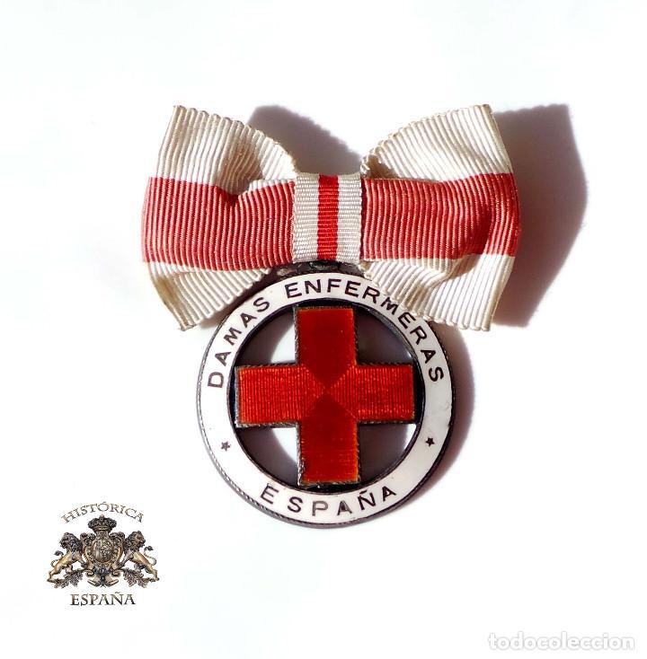 MEDALLA DAMAS ENFERMERAS CRUZ ROJA ESPAÑA - NUMERADA (Militar - Medallas Españolas Originales )