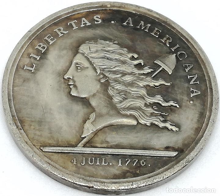 RÉPLICA MEDALLA LIBERTAS. GUERRA DE LA INDEPENDENCIA AMERICANA. 1776. ESTADOS UNIDOS DE AMÉRICA (Militar - Reproducciones y Réplicas de Medallas )