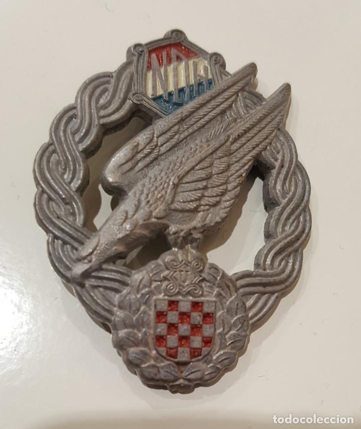 WW2. CROACIA. MEDALLA DISTINTIVO PARACAIDISTA. ORIGINAL. (Militar - Medallas Extranjeras Originales)