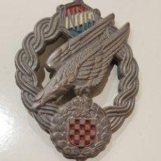 Militaria: WW2. CROACIA. MEDALLA DISTINTIVO PARACAIDISTA. ORIGINAL.. Lote 147632170