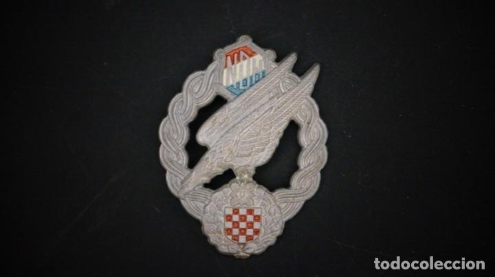Militaria: WW2. CROACIA. MEDALLA DISTINTIVO PARACAIDISTA. ORIGINAL. - Foto 4 - 147632170