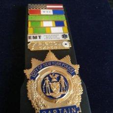 Militaria: NEW YORK CITY POLICE (NYPD). PLACA DE CAPITAN DE LA POLICÍA DE NEW YORK. POLICÍA AMERICANA. EEUU. US. Lote 147697454