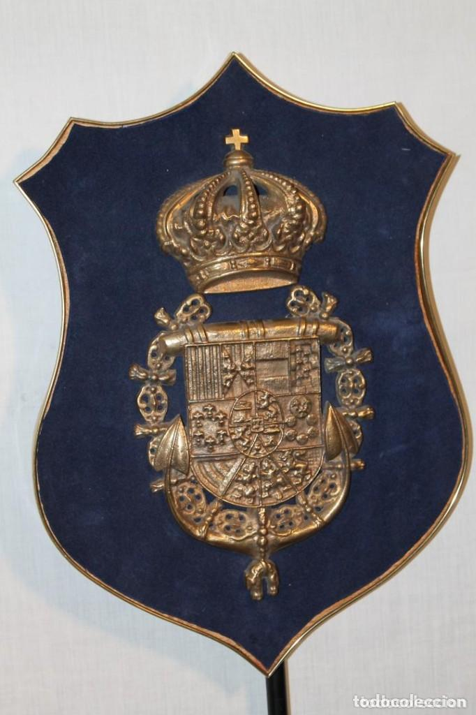 ESCUDO ESPAÑOL DE LA MARINA EN BRONCE (Militar - Reproducciones y Réplicas de Medallas )