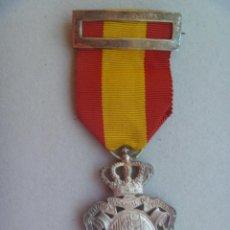 Militaria: MEDALLA DEL INSTITUTO NACIONAL DE PREVISION , LEY 1908 . EPOCA DE ALFONSO XIII . PLATA. Lote 148708558