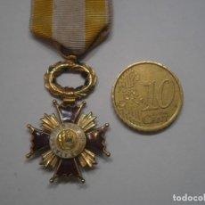 Militaria: ORDEN ISABEL LA CATOLICA,CRUZ DE CABALLERO 1 MODELO,ESM.HASTA BORDES CRUZ,ORO+SU CINTA-ORIG.RARISIMA. Lote 43166942