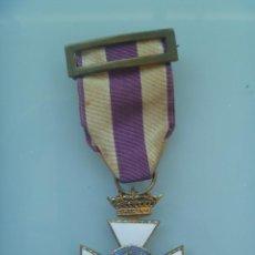 Militaria: MEDALLA CRUZ DE SAN HERMENEGILDO EPOCA DE ALFONSO XIII MODIFICADA DE FRANCO CON CORONA IMPERIAL. Lote 149528446
