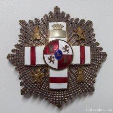 Militaria: PLACA MERITO MILITAR BLANCA PENSIONADA EPOCA FRANCO. Lote 149621242