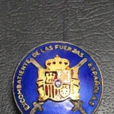 Militaria: INSIGNIA SOLAPA EXCOMBATIENTE EJERCITO ESPAÑOL. Lote 150214468