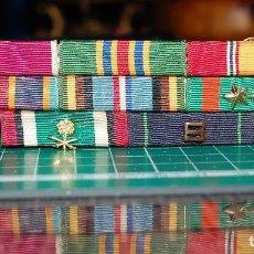 Militaria: US NAVY Y MARINES. PASADOR DE 8 CINTAS DE MEDALLAS.. Lote 151040738