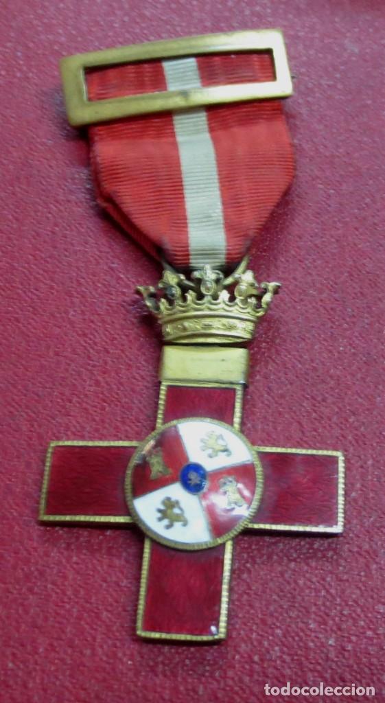 MEDALLA ALFONSINA MÉRITO MILITAR DISTINTIVO ROJO (Militar - Medallas Españolas Originales )