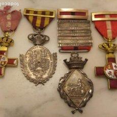 Militaria: CONJUNTO MEDALLAS ESPAÑOLAS SIGLO XIX. Lote 151310658
