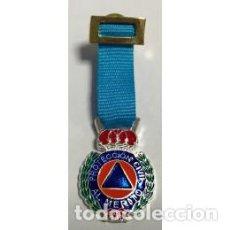 Militaria: MEDALLA MINIATURA DE PROTECCIÓN CIVIL CATEGORIA PLATA. Lote 151572414