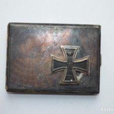 Militaria: WWII GERMAN CIGARETTE CASE IRON CROSS. Lote 151907006