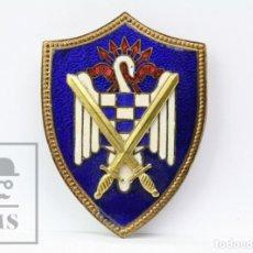 Militaria: INSIGNIA ESMALTADA - SEU FALANGE / FRENTE DE JUVENTUDES - AÑOS 60-70 - MEDIDAS 4,5 X 6 CM - #E01. Lote 151937502