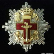 Militaria: PLACA DE SEGUNDA CLASE DEL MERITO NAVAL CON DISTINTIVO ROJO CON CAJA - EPOCA DE FRANCO. Lote 151970054