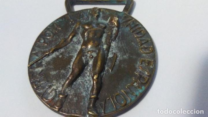 MEDALLA ITALIANA CTV ORIGINAL MARCAJE ASFER VOLUNTARIOS DE GUERRA CIVIL (Militar - Medallas Extranjeras Originales)