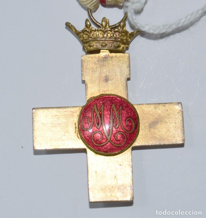 Militaria: Medalla Mérito Militar distintivo blanco época Franco - Foto 4 - 153019394