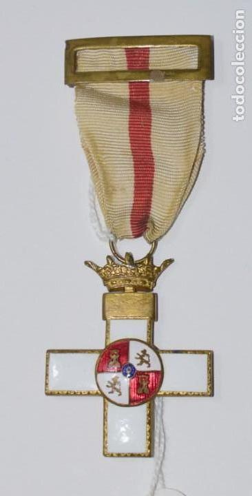 Militaria: Medalla Mérito Militar distintivo blanco época Franco - Foto 2 - 153019394
