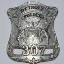 Militaria: PLACA POLICÍA DETROIT. Lote 153127586