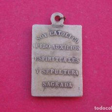 Militaria: MEDALLA ANTIGUA SOY CATÓLICO PIDO AUXILIOS Y SEPULTURA SAGRADA. GUERRA CIVIL.. Lote 153139138