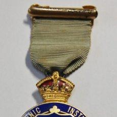 Militaria: MEDALLA MASONICA DE 1929.PLATA MACIZA.MIEMBRO DEL INSTITUTO STEWARD PARA CHICOS.. Lote 153481594