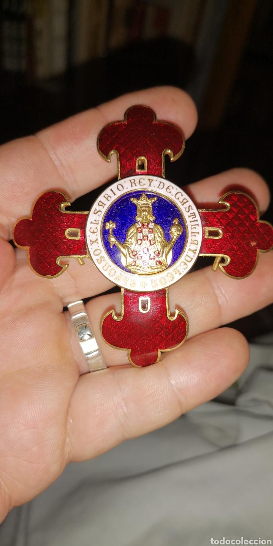 PLACA DE LA ORDEN DE ALFONSO DÉCIMO EL SABIO (Militar - Medallas Españolas Originales )