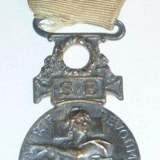 Militaria: ANTIGUA MEDALLA PLATA CRUZ ROJA DE SOCIEDAD FRANCESA DE MILITARES HERIDOS FRANCIA AÑOS 1864-1866. Lote 153735140