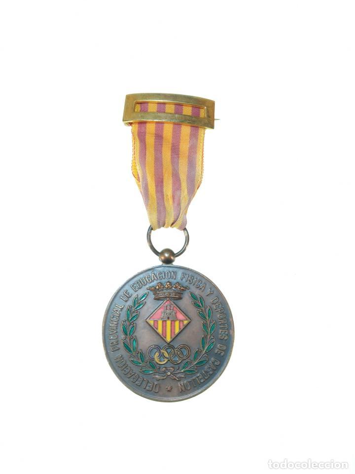 MEDALLA DELEGACIÓN PROVINCIAL DE EDUCACIÓN FÍSICA Y DEPORTES DE CASTELLÓN - COBRE - AÑOS 50-60 - (Militar - Medallas Españolas Originales )