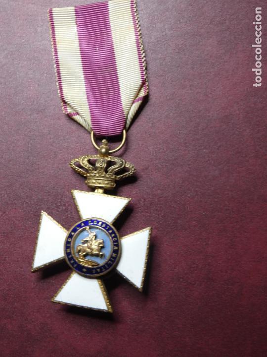Militaria: Cruz medalla premio a la constancia militar F VII. esmalte muy buen estado. San Hermenegildo - Foto 2 - 154273282