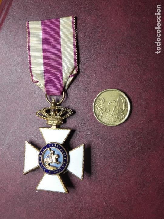 Militaria: Cruz medalla premio a la constancia militar F VII. esmalte muy buen estado. San Hermenegildo - Foto 3 - 154273282