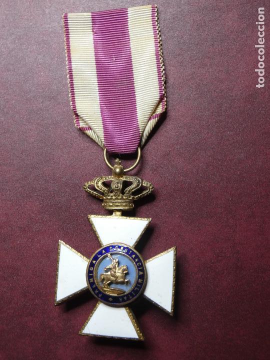 Militaria: Cruz medalla premio a la constancia militar F VII. esmalte muy buen estado. San Hermenegildo - Foto 6 - 154273282