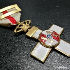 Militaria: CRUZ AL MÉRITO MILITAR. DISTINTIVO BLANCO. CORONA REAL.. MEDALLA-CONDECORACION. Lote 154767198
