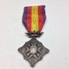 Militaria: MEDALLA CENTENARIO DE LOS SITIO DE GERONA 1809-1909 - CATEGORIA PLATA . Lote 155122830