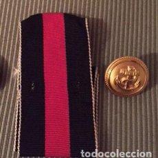Militaria: LOTE 2 PIEZAS SUELTAS III REICH. CINTA MEDALLA ANEXION SUDETTES. BOTÓN UNIFORME KRIEGSMARINE.. Lote 155236578