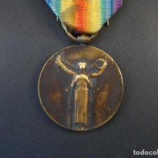Militaria: MEDALLA LA GRANDE GUERRE POUR LA CIVILISATION 1914-1918. INTER ALIADOS. BRONCE. REPUBLICA FRANCESA. Lote 155682194