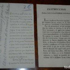 Militaria: DESPACHO DE 1807 CARLOS III, CONCESION DE LA CRUZ SUPERNUMERARIA DE CARLOS III, FIRMADO PEDRO CEVALL. Lote 155781338