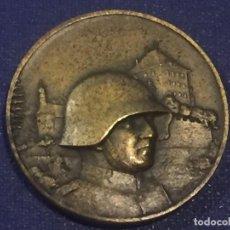 Militaria: MEDALLA BRONCE MILITAR LUCERNA LUZERN SUIZA HOCHDORF 1935 PEKA 34MM. Lote 156562694