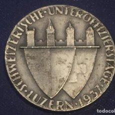 Militaria: MEDALLA BRONCE PLATEADO JORNADAS ENTRE OFICIALES PLATA 925 A. STOCKMANN 1937 MILITAR 34MM. Lote 156563334