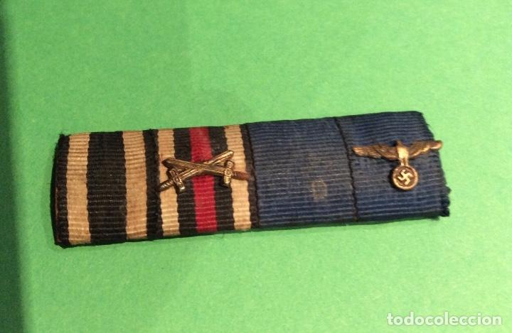 PASADOR DE DIARIO ORIGINAL III REICH . 4 CONDECORACIONES. SOLDADO 1 Y 2 GUERRA MUNDIAL. (Militar - Cintas de Medallas y Pasadores)