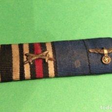 Militaria: PASADOR DE DIARIO ORIGINAL III REICH . 4 CONDECORACIONES. SOLDADO 1 Y 2 GUERRA MUNDIAL.. Lote 156661210