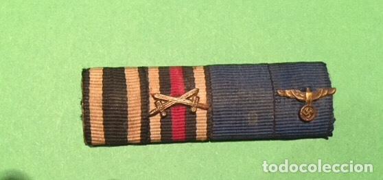 Militaria: PASADOR DE DIARIO ORIGINAL III REICH . 4 CONDECORACIONES. SOLDADO 1 y 2 GUERRA MUNDIAL. - Foto 2 - 156661210