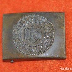 Militaria: HEBILLA-BUCKLE WEHRMACHT-ACERO. Lote 157007350