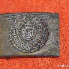 Militaria: HEBILLA-BUCKLE SS-ACERO. Lote 157007510